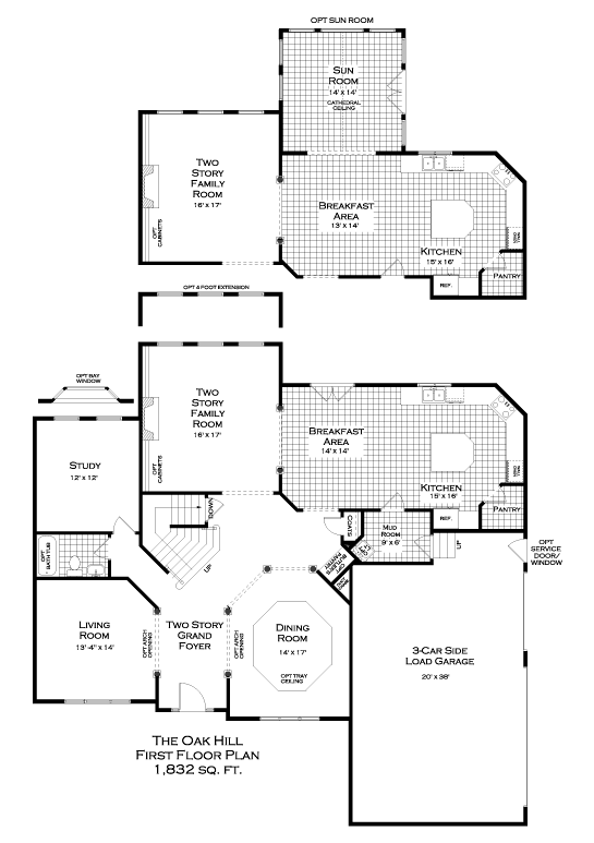 Oak Hill First Floor Plan
