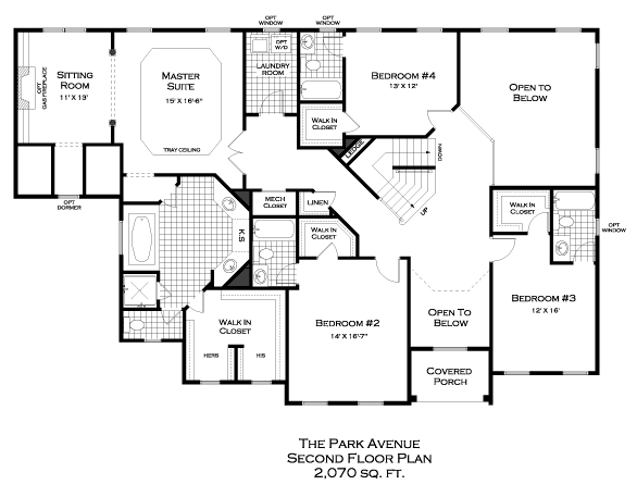 Park Avenue Second Floor Plan
