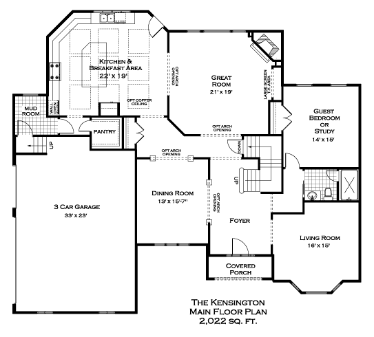 Kensington First Floor Plan