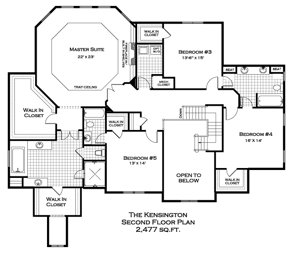 Kensington Second Floor Plan